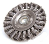 Knotted wire wheel