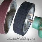 Expander Wheel for your bench grinder 200mm x 50mm incl 7 belts