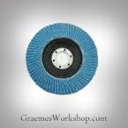 Flap Disc 100mm, blue zircon x 10