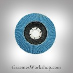 Flap Disc, 125mm Blue Zircon x 10
