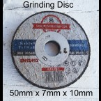 50mm x 25 .. Grinding Disc 10mm (3/8inch) center